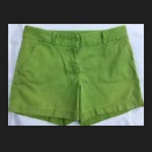 J. Crew Shorts Size 6 Green Lime Low Fit